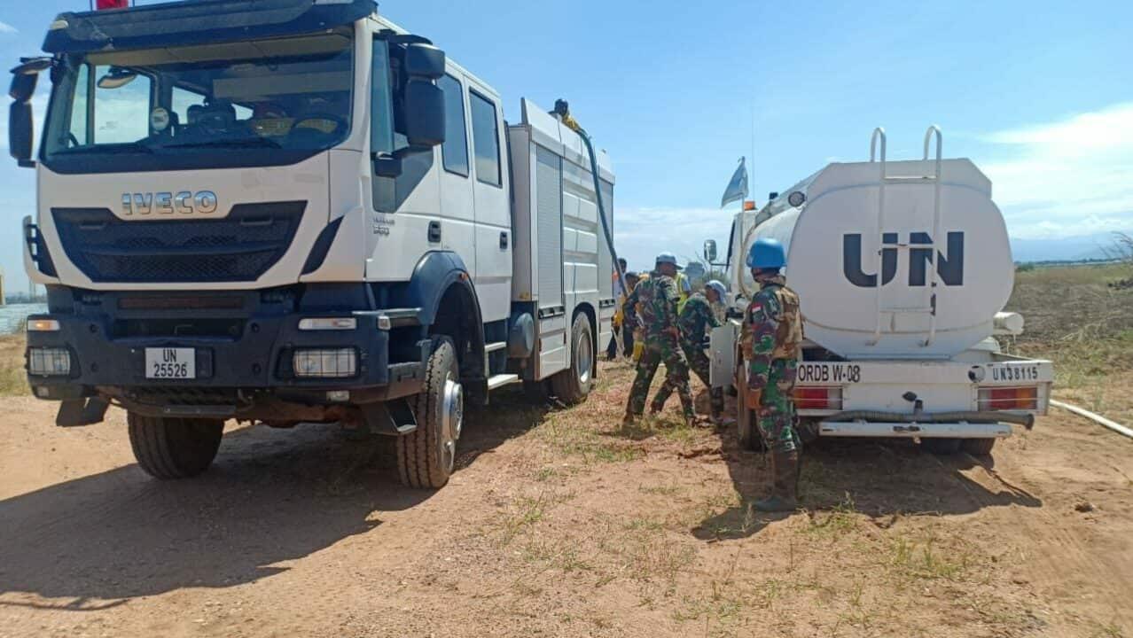 Terbakar di Airops, Satgas Indo RDB MONUSCO Selamatkan Aset UN di Kongo