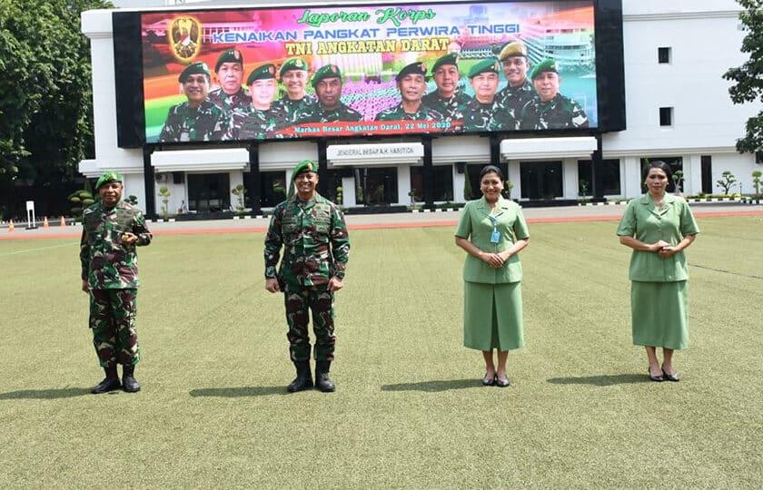 Kasad Terima Laporan Kenaikan Pangkat 70 Perwira Tinggi TNI AD