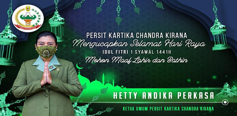 Persit Kartika Chandra Kirana Mengucapkan Selamat Hari Raya Idul Fitri 1 Syawal 1441 H