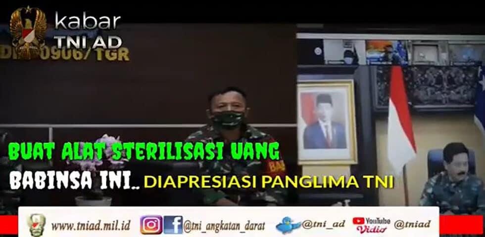 Buat Alat Sterilisasi, Babinsa Ini Diapresiasi Panglima TNI | KABAR TNI AD