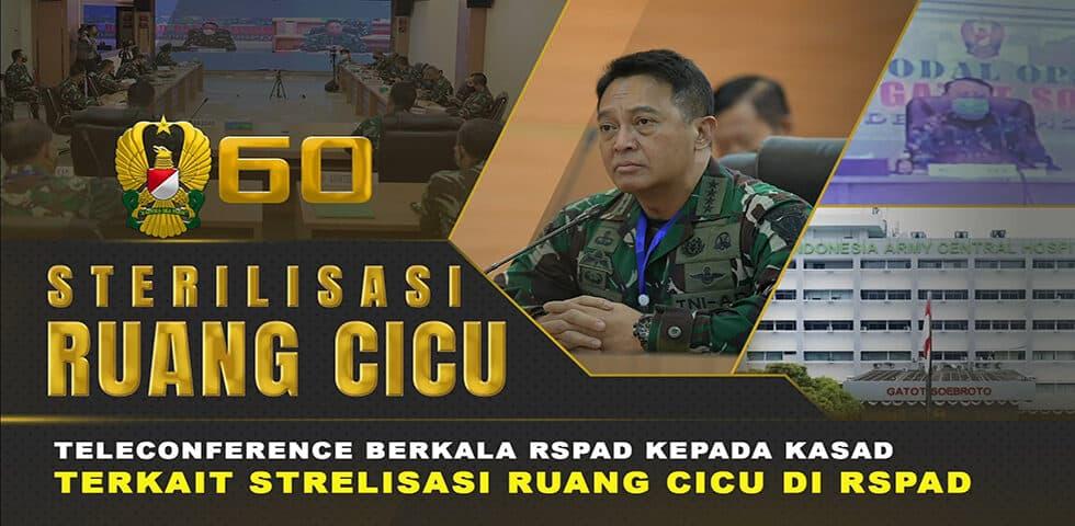 CICU RSPAD Gatot Soebroto Dinyatakan Steril dari Covid-19 I 60″ TNI AD
