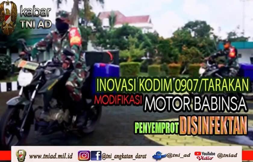 Inovasi Kodim 0907/Tarakan, Modifikasi Motor Babinsa Penyemprot Disinfektan I Kabar TNI AD