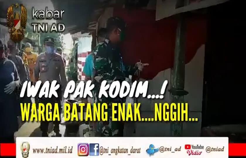Iwak Pak Kodim..! Warga Batang Enak..Nggih.. | KABAR TNI AD