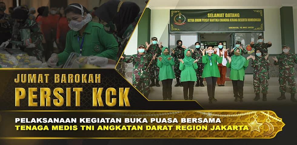 Persit KCK Bagikan Makanan Berbuka Puasa untuk Tenaga Medis TNI AD