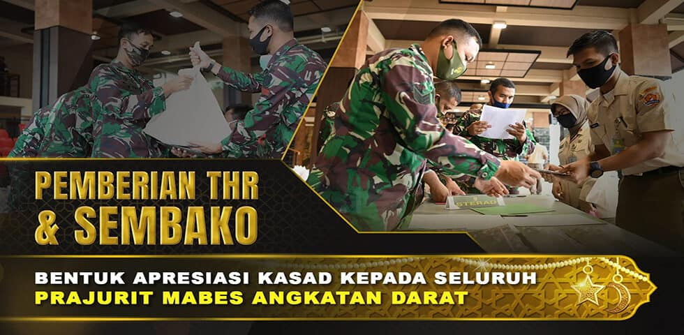Kasad Berikan THR dan Bantuan Sembako Bagi Prajurit dan PNS di Lingkungan Mabesad | 60″ TNI AD