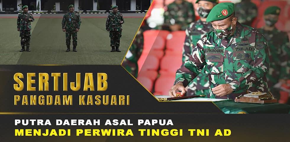 Kasad Pimpin Sertijab dan Laporan Koprs Kenaikan Pangkat Perwira Tinggi TNI AD I 60″ TNI AD