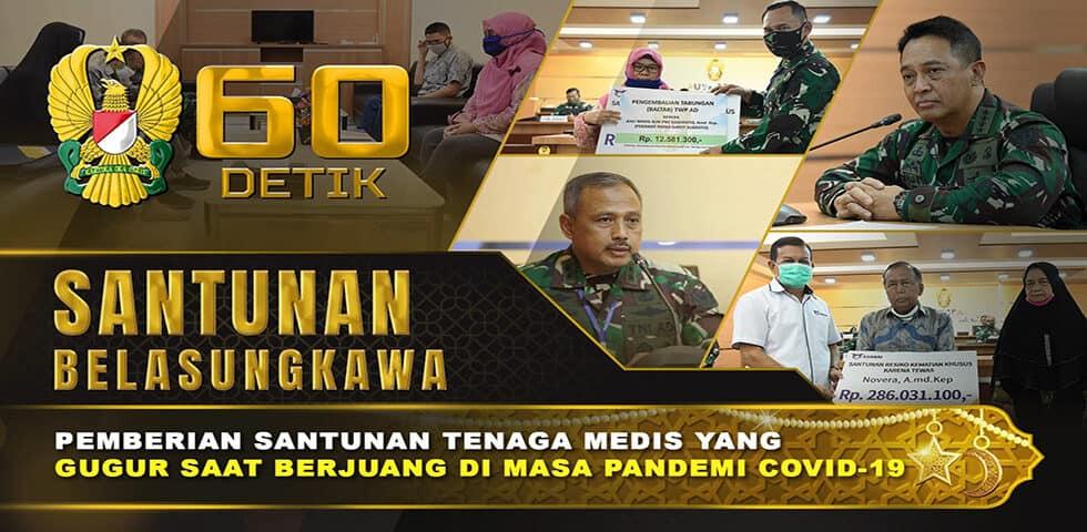 Pemberian Santunan Belasungkawa untuk Tenaga Medis RSPAD | 60″ TNI AD