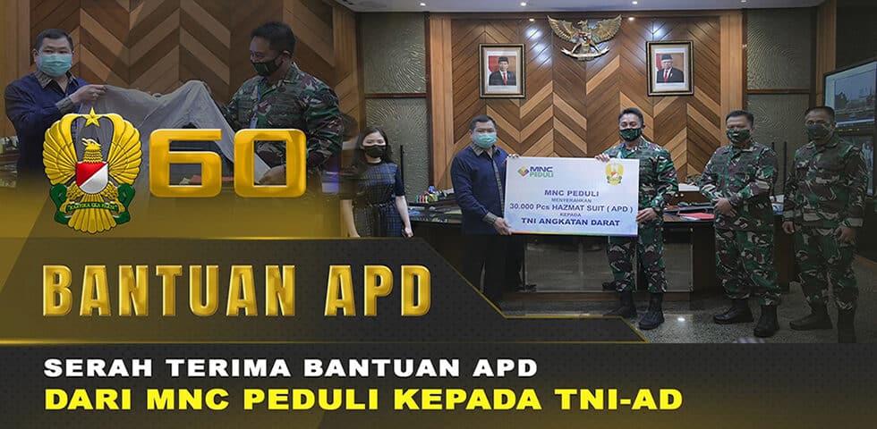 TNI AD Terima Bantuan 30 Ribu APD dari MNC Peduli | 60″ TNI AD