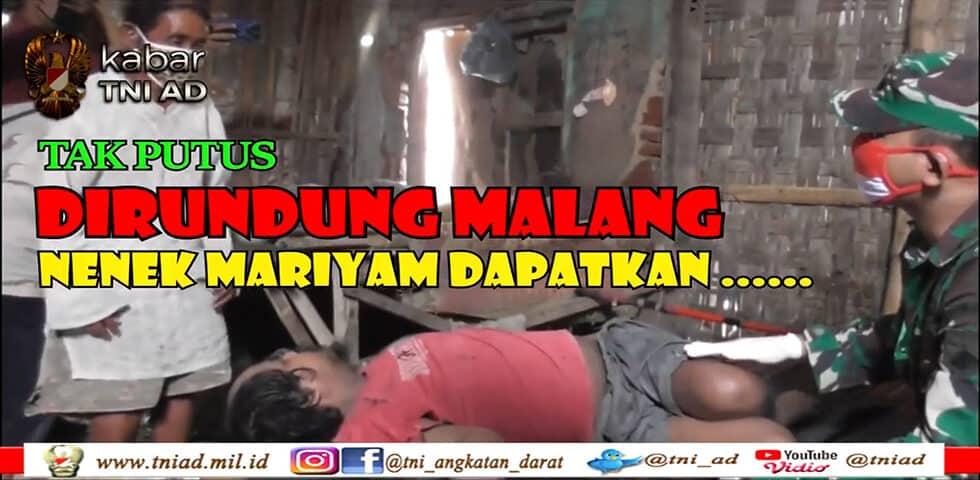 Tak Putus Dirundung Malang, Nenek Mariyam Dapatkan… | KABAR TNI AD