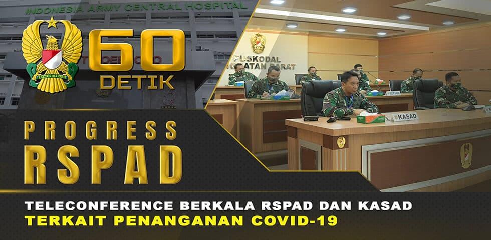 Laporan Berkala RSPAD Terkait Penanganan Covid-19 | 60″ TNI AD