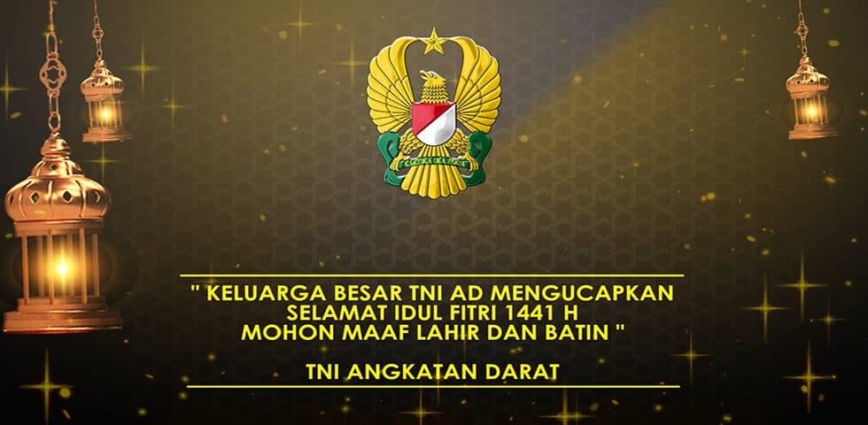 Ucapan Lebaran TNI AD   60″ TNI AD