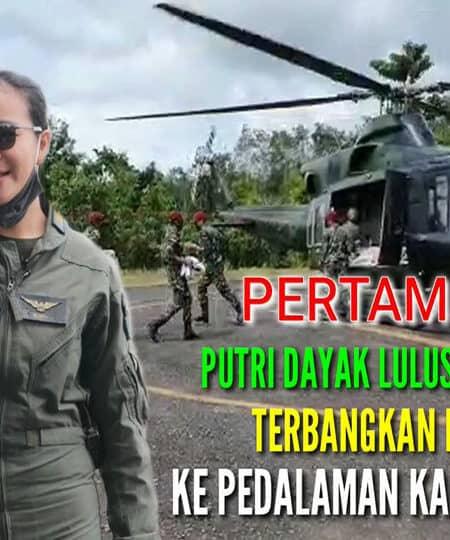 Anong, Putri Dayak Lulusan Akmil Terbangkan Bell 412 ke Pedalaman Kalbar