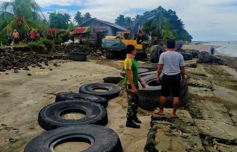 Ban Bekas Satgas Yonarmed 9 Cegah Abrasi dan Lindungi Warga Maluku Utara