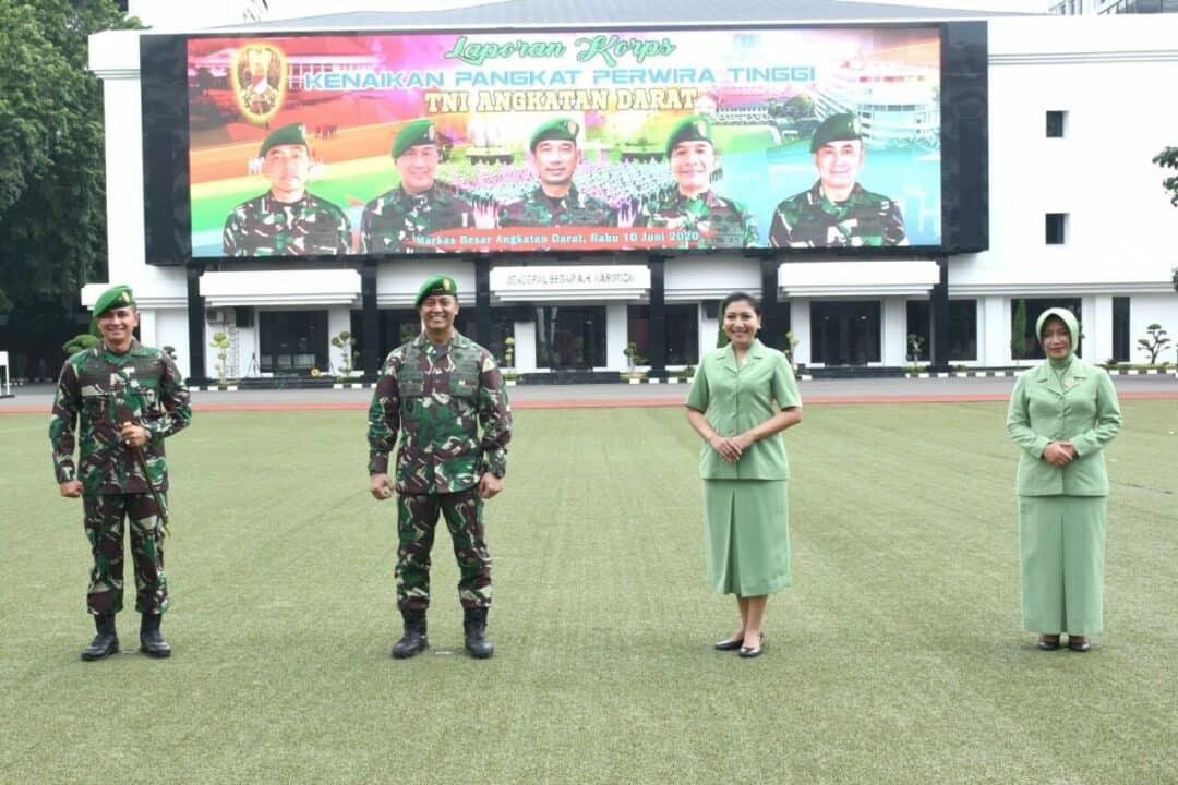 Kasad Terima Laporan Kenaikan Pangkat 74 Perwira Tinggi TNI AD