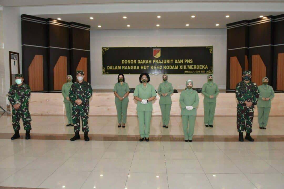 Bantu PMI, Prajurit Kodam Merdeka Tak Ragu Donorkan Darah