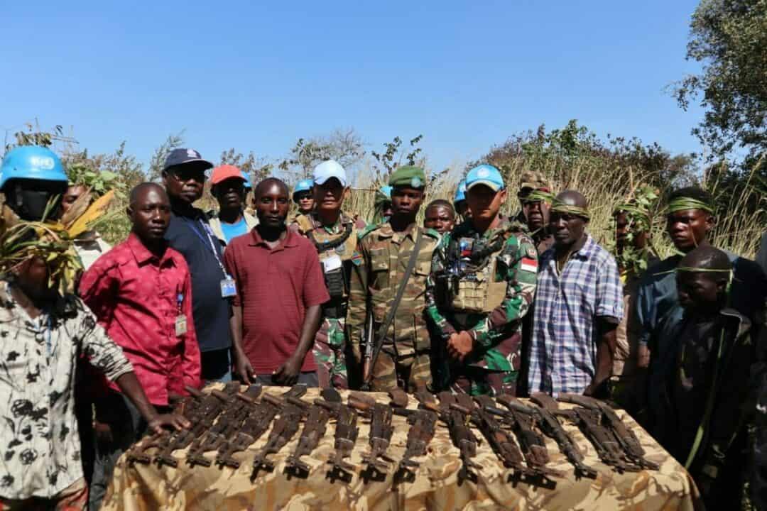 Lalui Proses Panjang, Indo RDB MONUSCO Serahkan 72 Milisi dan 32 Senjata serta 346 Munisi