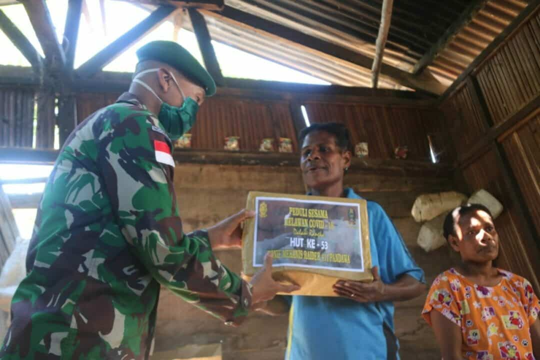 HUT Yonif MR 411, Wahana Berbagai Bahagia Bersama Warga Papua