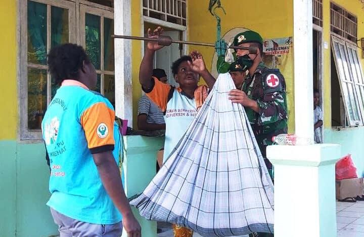 Pelihara Imunitas Balita Papua, Satgas Yonif 125 Gelar Kegiatan Posyandu