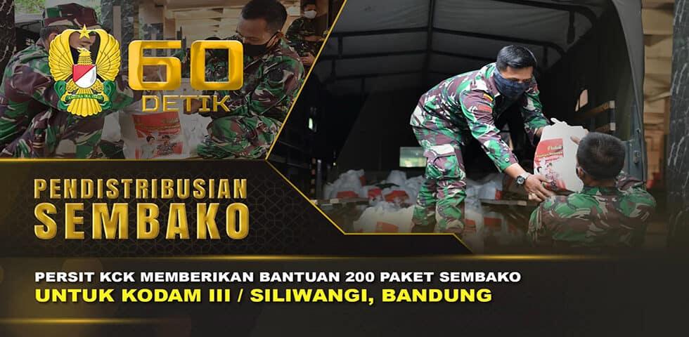 "Pendistribusian Bantuan Persit KCK untuk Kodam III/ Siliwangi I 60"" TNI AD"
