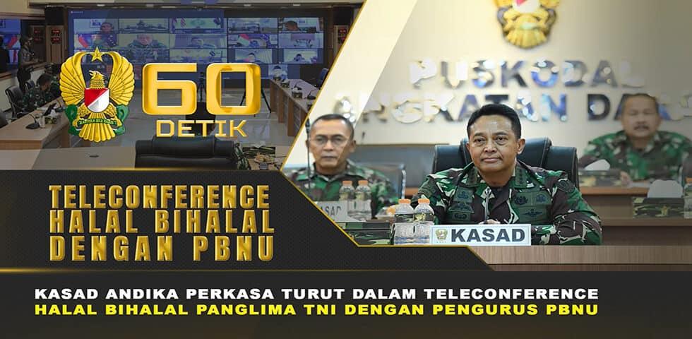 Jalinan Silaturahmi Jajaran TNI dan Polri kepada Tokoh PBNU melalui Teleconference