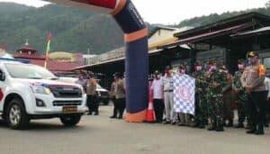 Danrem 172 Berangkatkan 2.725 Paket Baksos Serentak HUT Bhayangkara