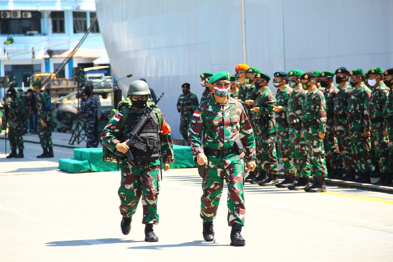 Tiba di Papua, Personel Satgas Pamtas RI-PNG Jalani Protokol Kesehatan