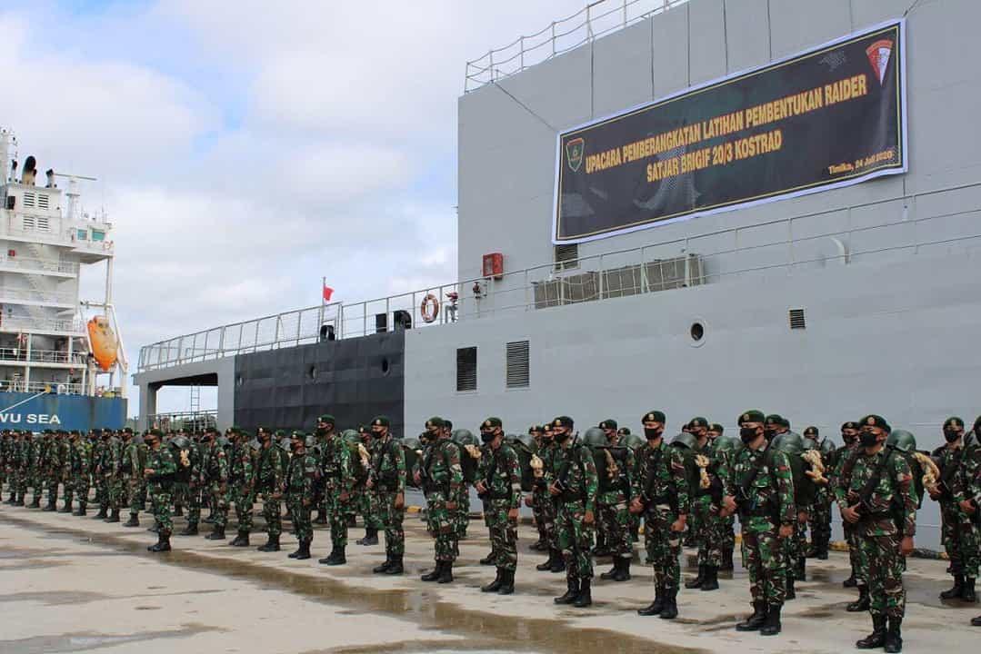 330 Prajurit Yonif 755 Ikuti Latihan Pembentukan Raider