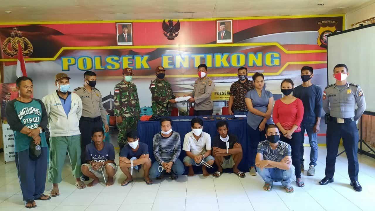 Operasi Gabungan, Satgas Yonif 641 Amankan Pelintas Batas Ilegal