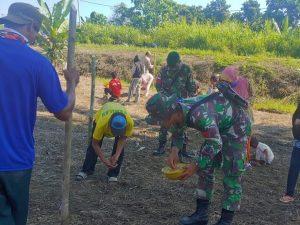 Bantu Warga Tanam Padi, Satgas Yonif 754 Dukung Ketahanan Pangan di Papua