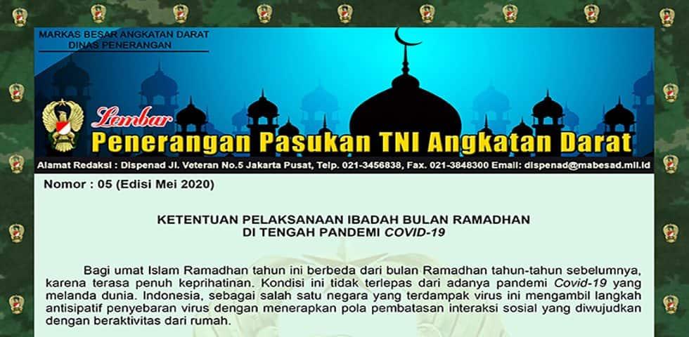 Ketentuan Pelaksanaan Ibadah Bulan Ramadhan di Tengah Pandemi Covid-19