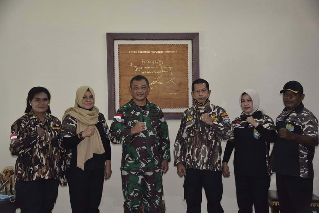 Perkuat Jalinan Silaturahmi dan Komsos, GM FKPPI Papua Audiensi ke Korem 172/PWY