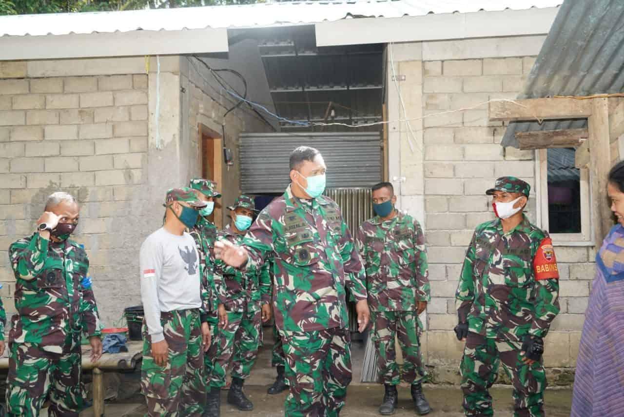 Tinjau Progres RTG, Danrem 162/WB Semangati Satgas Rehab Rekon Kebut Pembangunan