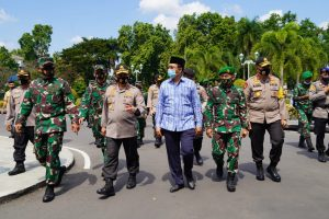 Cek Penanganan Covid-19 di Wilayah Kodam IX/Udy, Menko Polhukam RI Kunjungi NTB