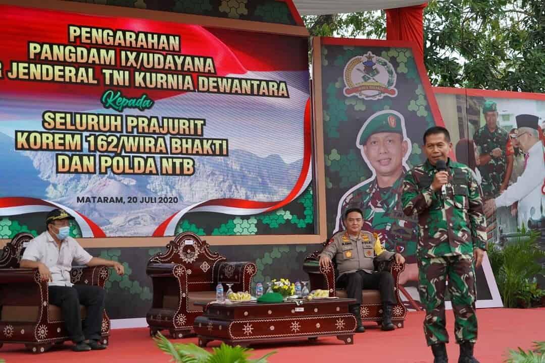 Pangdam IX/Udayana Bangga Dengan Sinergitas dan Kekompakan TNI-Polri di NTB