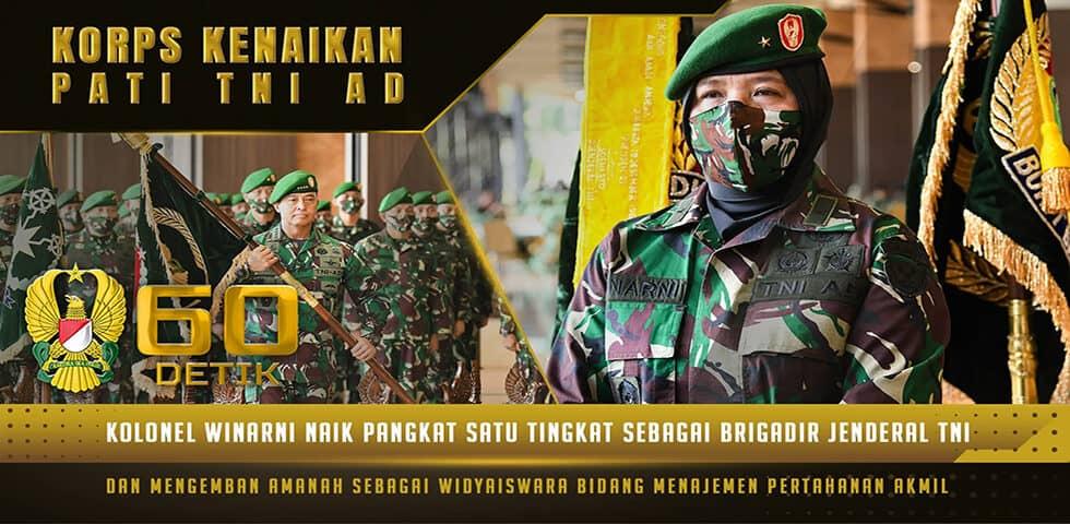 Brigjen TNI Winarni Raih Pangkat dan Jabatan Baru sebagai Widyaiswara