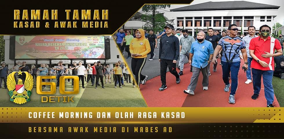 Ramah Tamah Kasad dengan Rekan Media dalam Kegiatan Coffee Morning