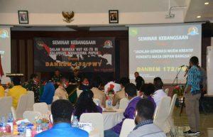 Gelar Seminar Kebangsaan, Korem 172/PWY Ajak Mahasiswa Berperan Selesaikan Konflik di Papua