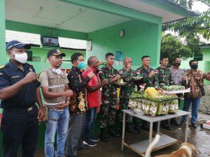 Sederhana, Satgas Yonif MR 413 Rayakan HUT ke-55 di Perbatasan RI-PNG