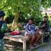 Dekatkan Diri ke Warga, Satgas Yonif 754 Rutin Anjangsana ke Kampung-Kampung di Papua
