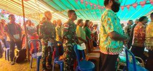 Tingkatkan Harmonisasi Kehidupan Beragama, Satgas Yonif 312 Hadiri HUT GKII di Perbatasan Papua