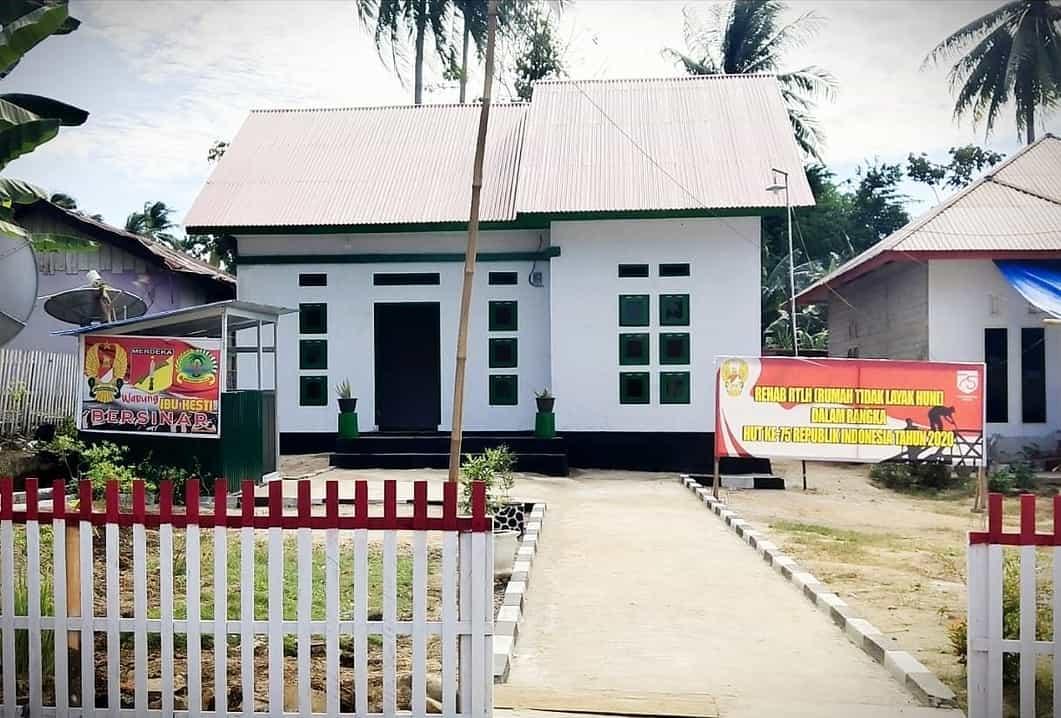 Kodim Gorontalo Utara Sulap Gubuk Reyot Hesti dan Hemanto Abas Jadi Layak Huni
