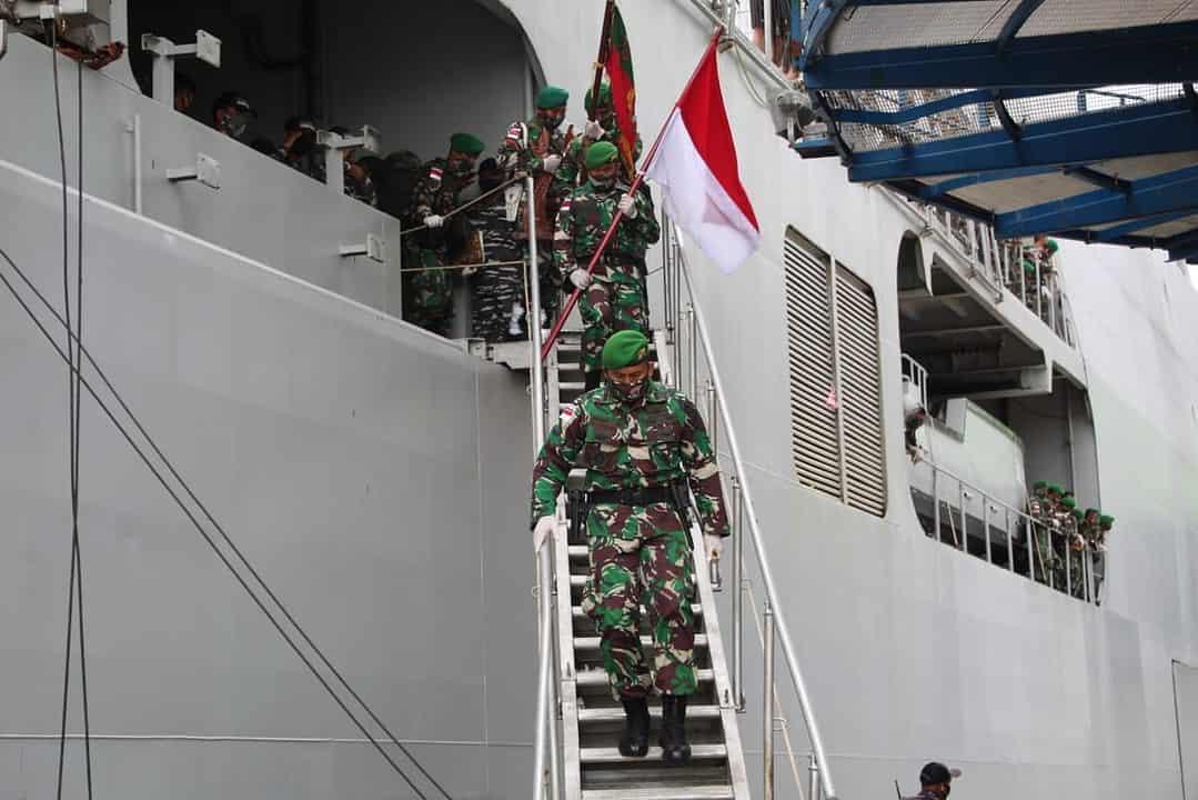 Satgas Yonif 713 Kembali di Bumi Gorontalo Usai Jalani Tugas Pengamanan Perbatasan RI-PNG