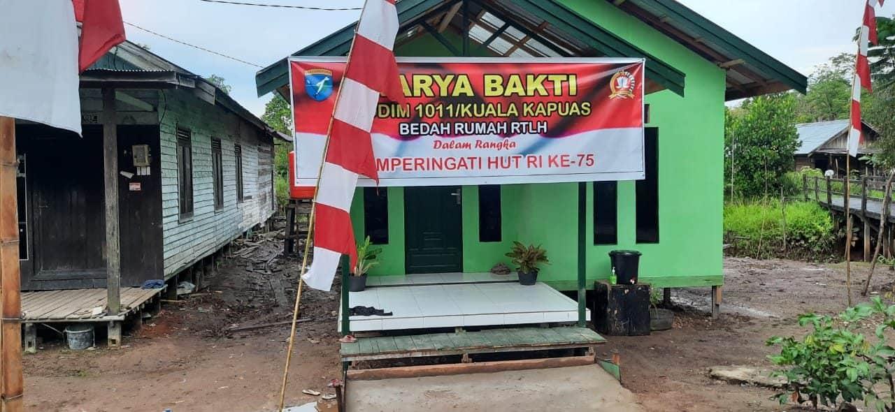 Terima Bantuan Kasad, Lima RTLH Warga Dibedah Kodam XII/Tpr