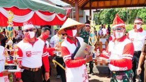 Semangati Petani, Danrem dan Kapolda Panen Perdana di Food Estate Belanti Siam