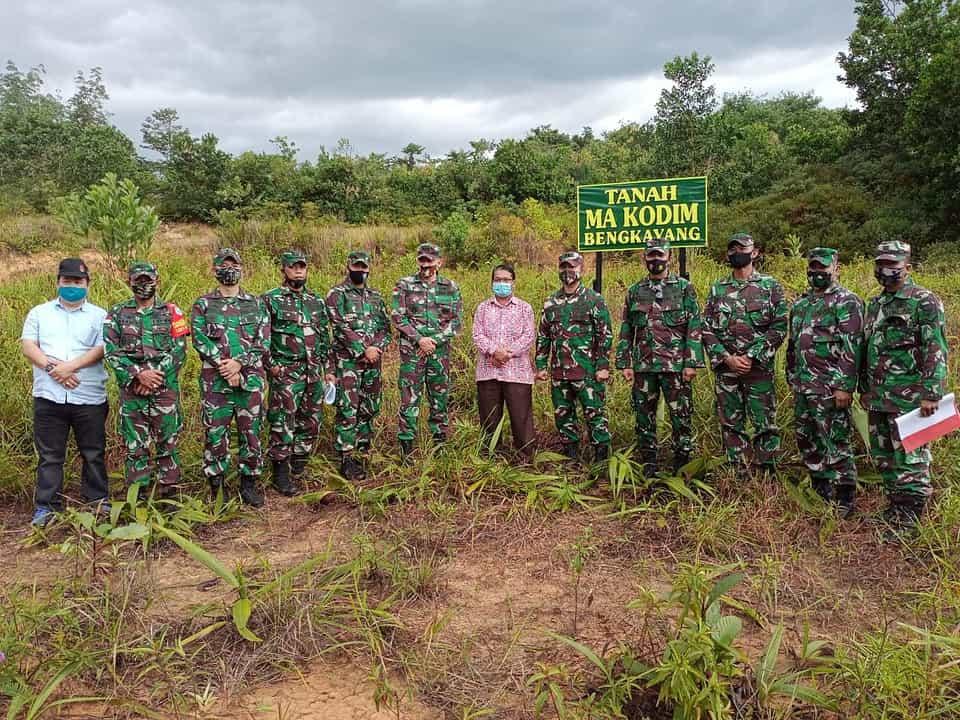 Perkuat Pertahanan Wilayah Perbatasan,Tim Mabesad Tinjau Lokasi Pembangunan Kodim Bengkayang