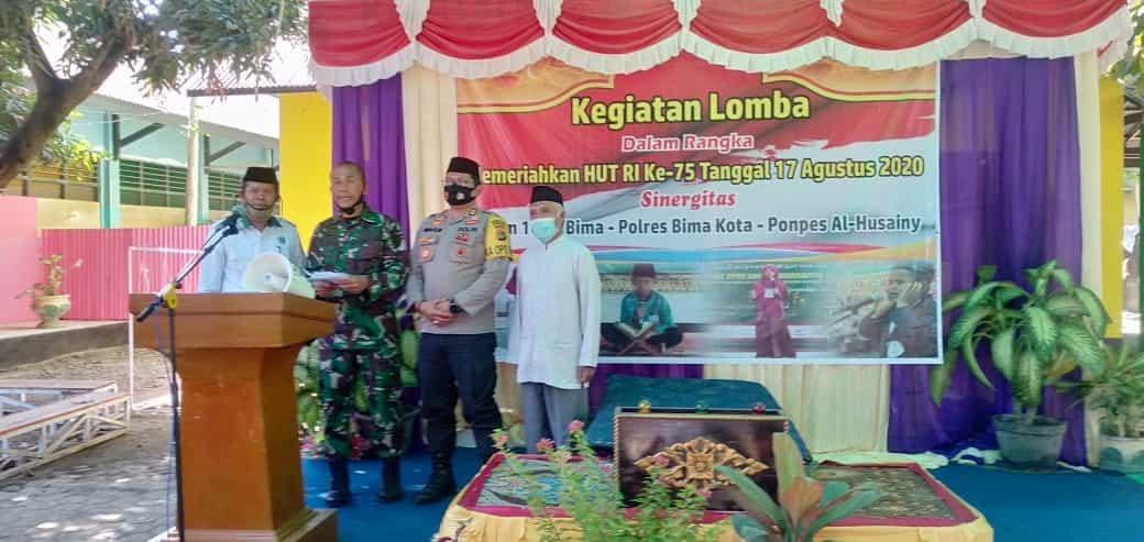 Perkokoh Sinergitas, TNI-Polri Bersama Ponpes Al-Husainy Gelar Berbagai Perlombaan Meriahkan HUT ke-75 RI