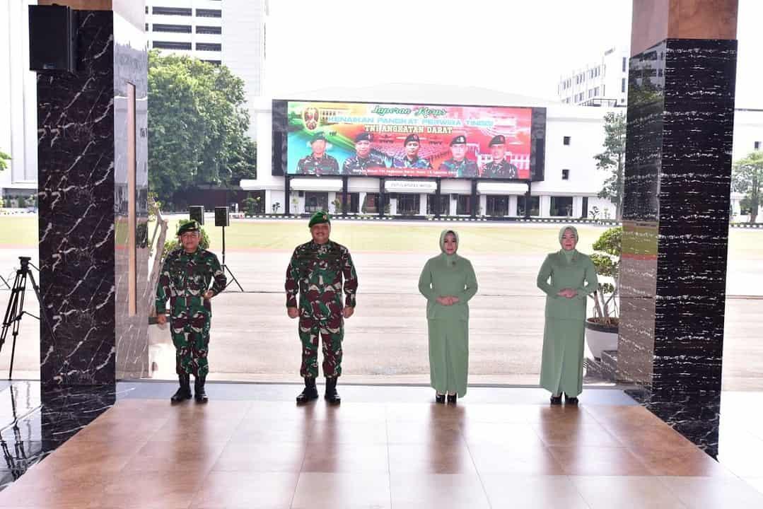 Wakasad Terima Laporan Kenaikan Pangkat Sepuluh Perwira Tinggi TNI AD