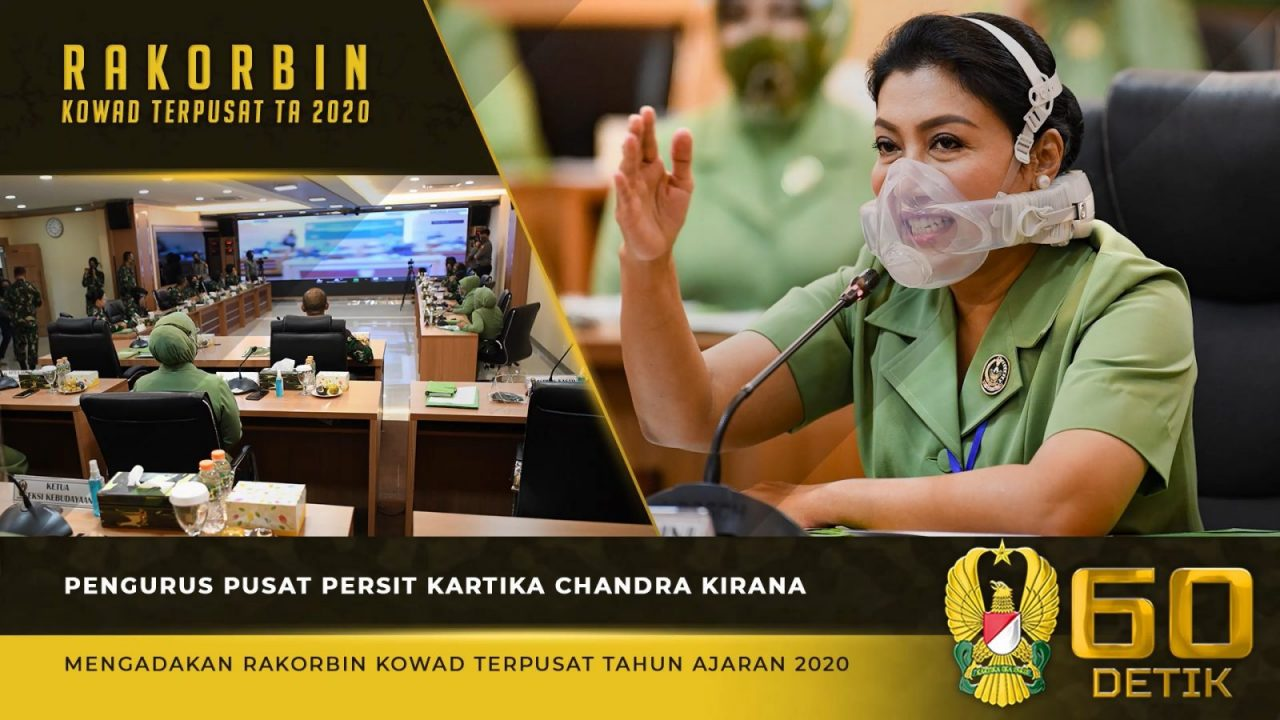 Rapat Virtual Koordinasi Pembinaan Korps Wanita Angkatan Darat Terpusat TA 2020