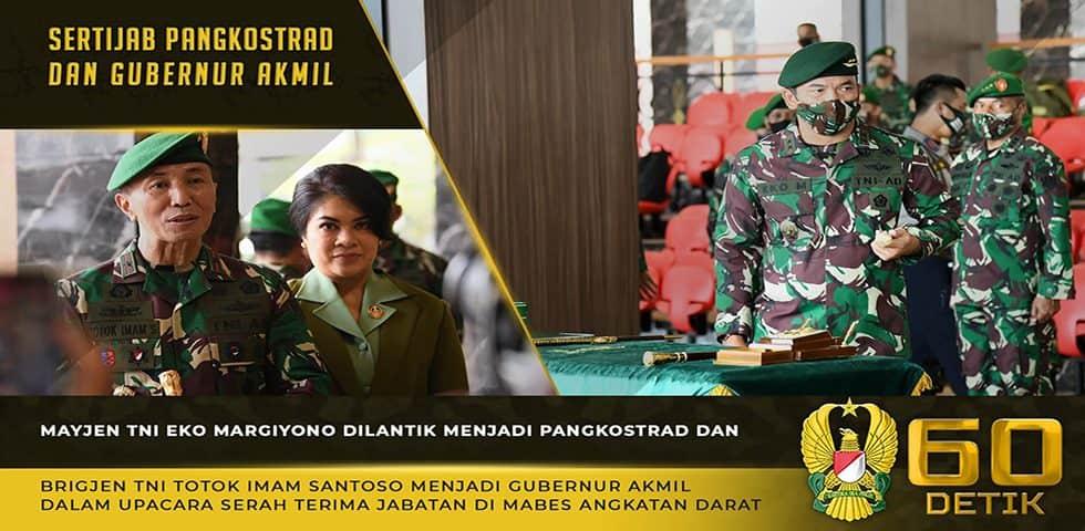 Sertijab Pangkostrad dan Gubernur Akademi Militer