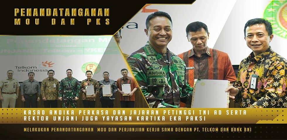 Penandatanganan MoU dan PKS Pembangunan Smart Digital Kampus Universitas Jenderal Achmad Yani